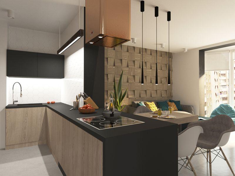фото полимерного заливного пола на кухне